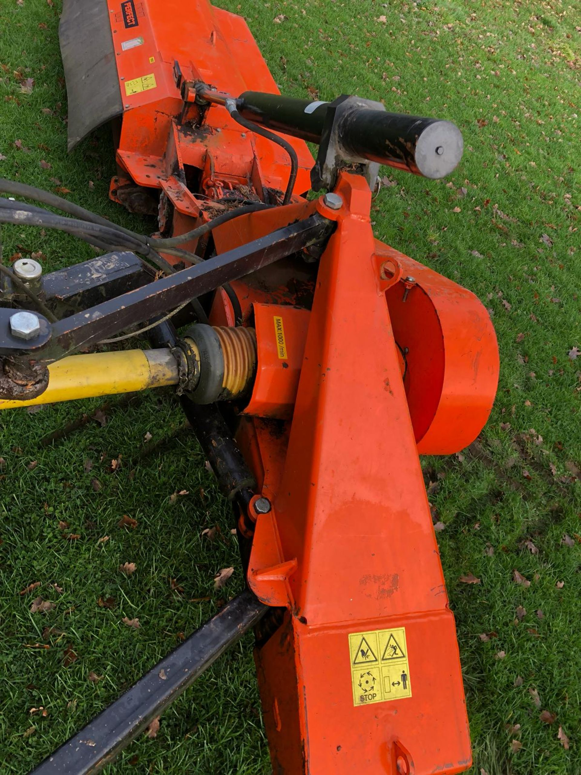 Lot 65 - DS - 2012 PERFECT FRONT FLAIL FOR A TRACTOR ORANGE *PLUS VAT*  COLLECTION FROM PILSLEY, S45 NEAR