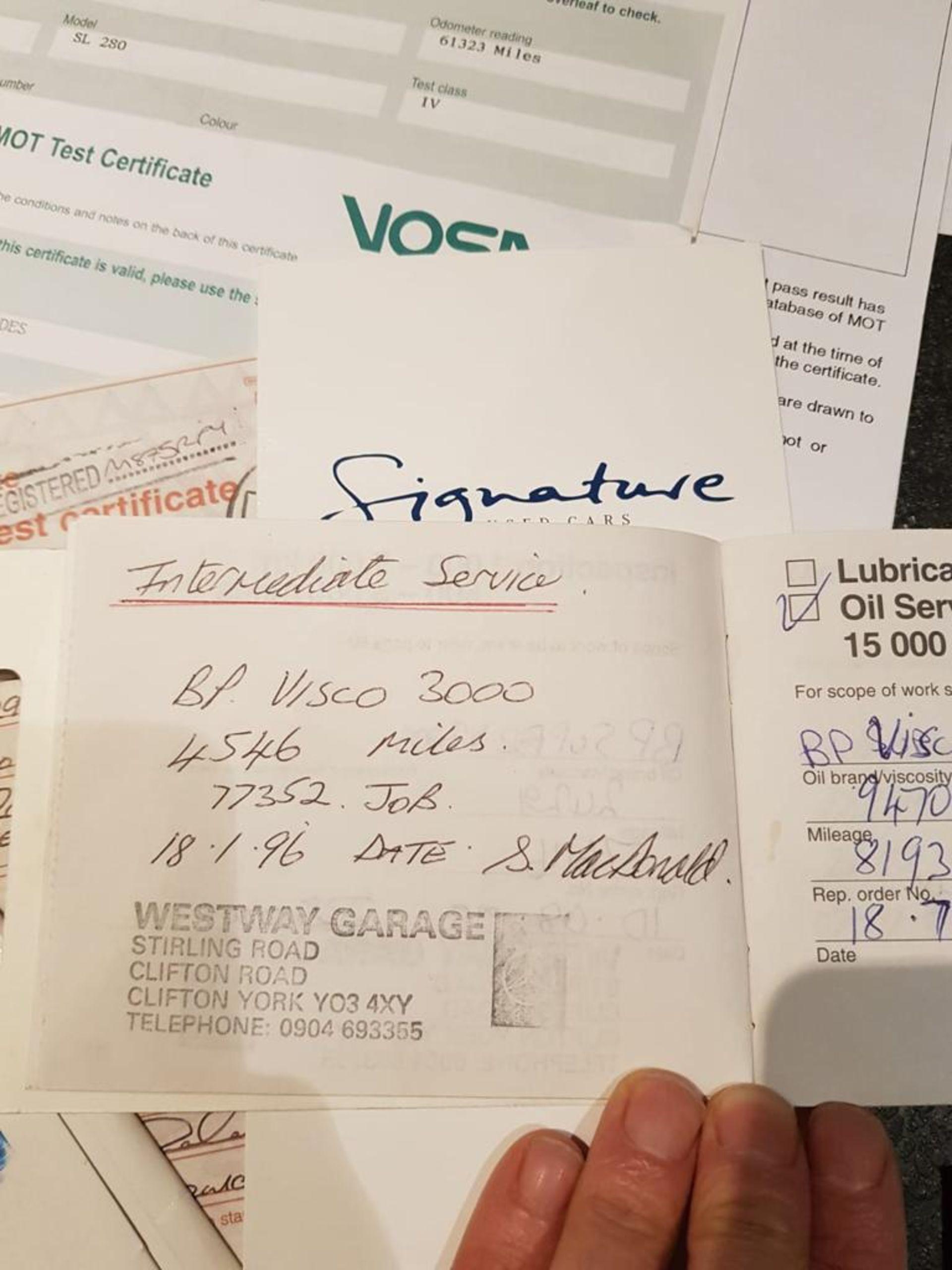 Lot 5 - 1995/M REG MERCEDES SL280 AUTO 2.8 SILVER PETROL CONVERTIBLE - FULL SERVICE HISTORY *NO VAT*