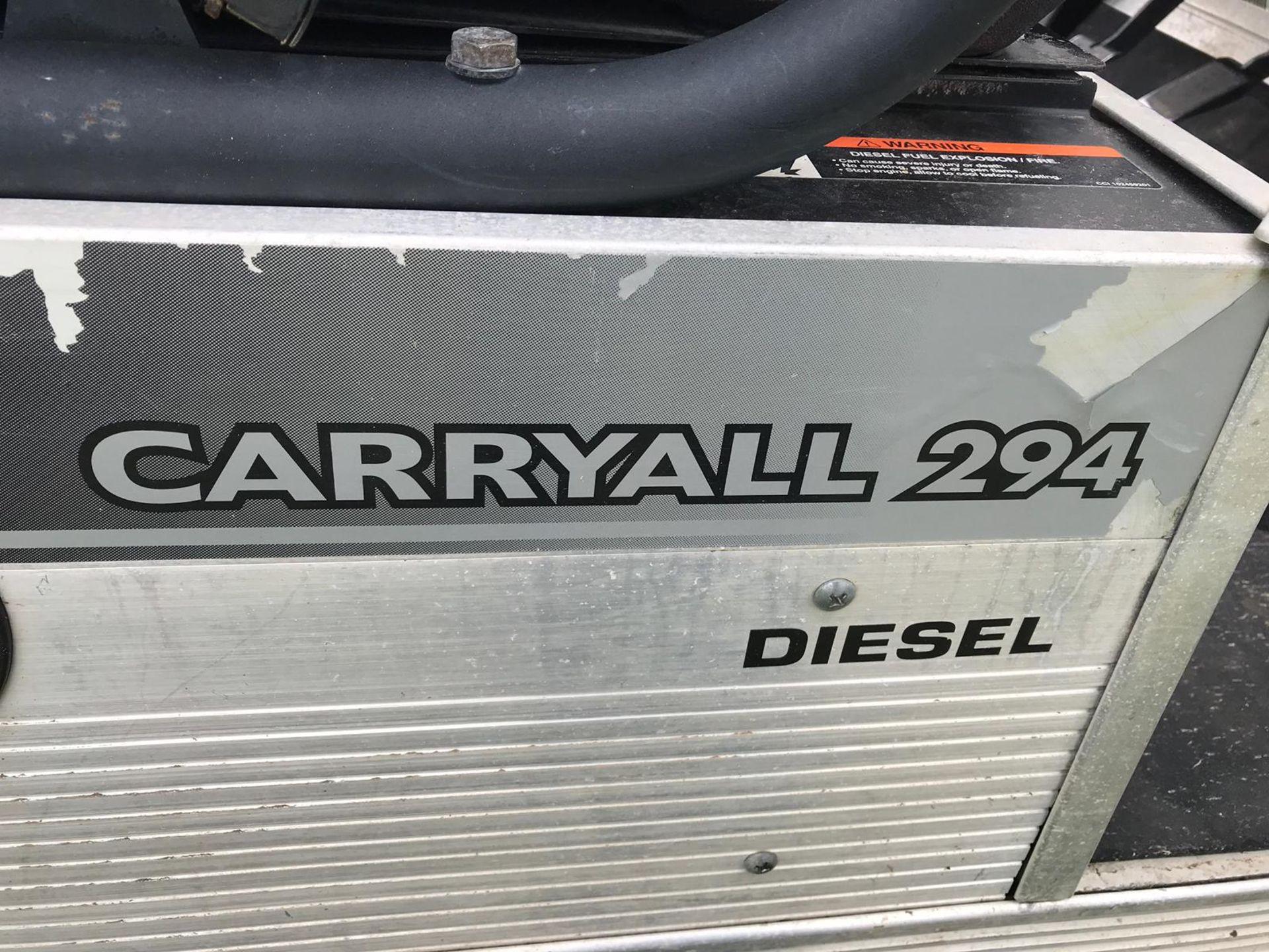 Lot 55 - CARRYALL CLUB CAR 294 DIESEL 4X4 INTELLITRAK CLUB CART, ELECTRIC TIP *PLUS VAT*
