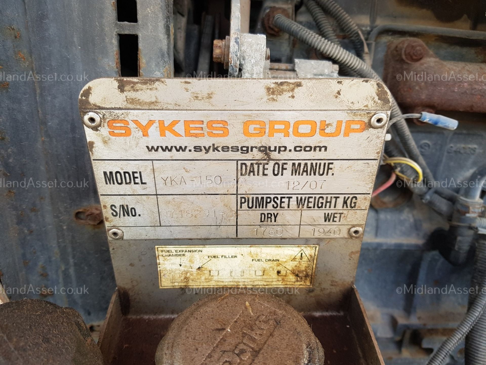 """Lot 178 - 2007 SINGLE AXLE TOW-ABLE 6"""" INCH WATER PUMP, PERKINS DIESEL ENGINE, SYKES GROUP *PLUS VAT*"""