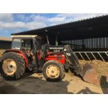 Lot 106 - 1986-1990 SAME EXPLORER 80 SPECIAL 4WD DIESEL TRACTOR WITH QUICKE 520 FRONT LOADING SHOVEL *PLUS VAT