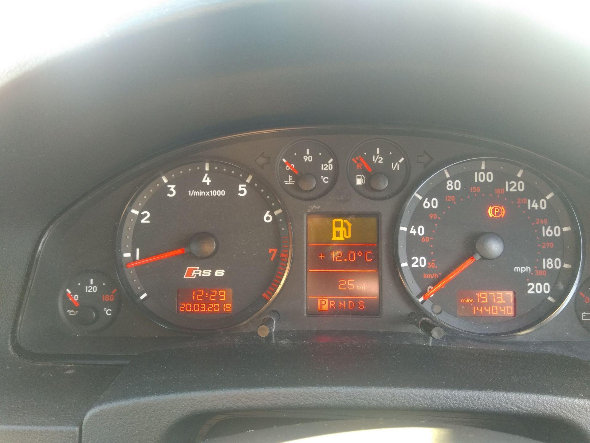 Lot 76 - 2003/52 REG AUDI RS6 QUATTRO AUTO 4.2L PETROL BLACK ESTATE *NO VAT*