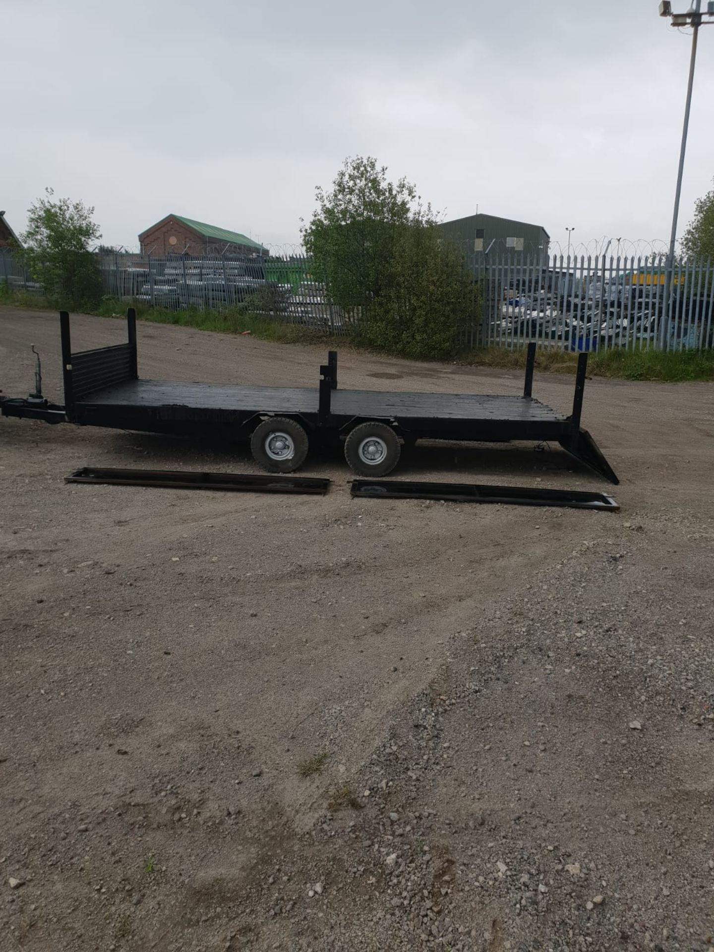 Lot 23 - 3.5 TON TIPPING TRAILER LAUNCH YOUR WORK DROP DOWN SIDES TIPPER WORKS GOOD TYRES *NO VAT*