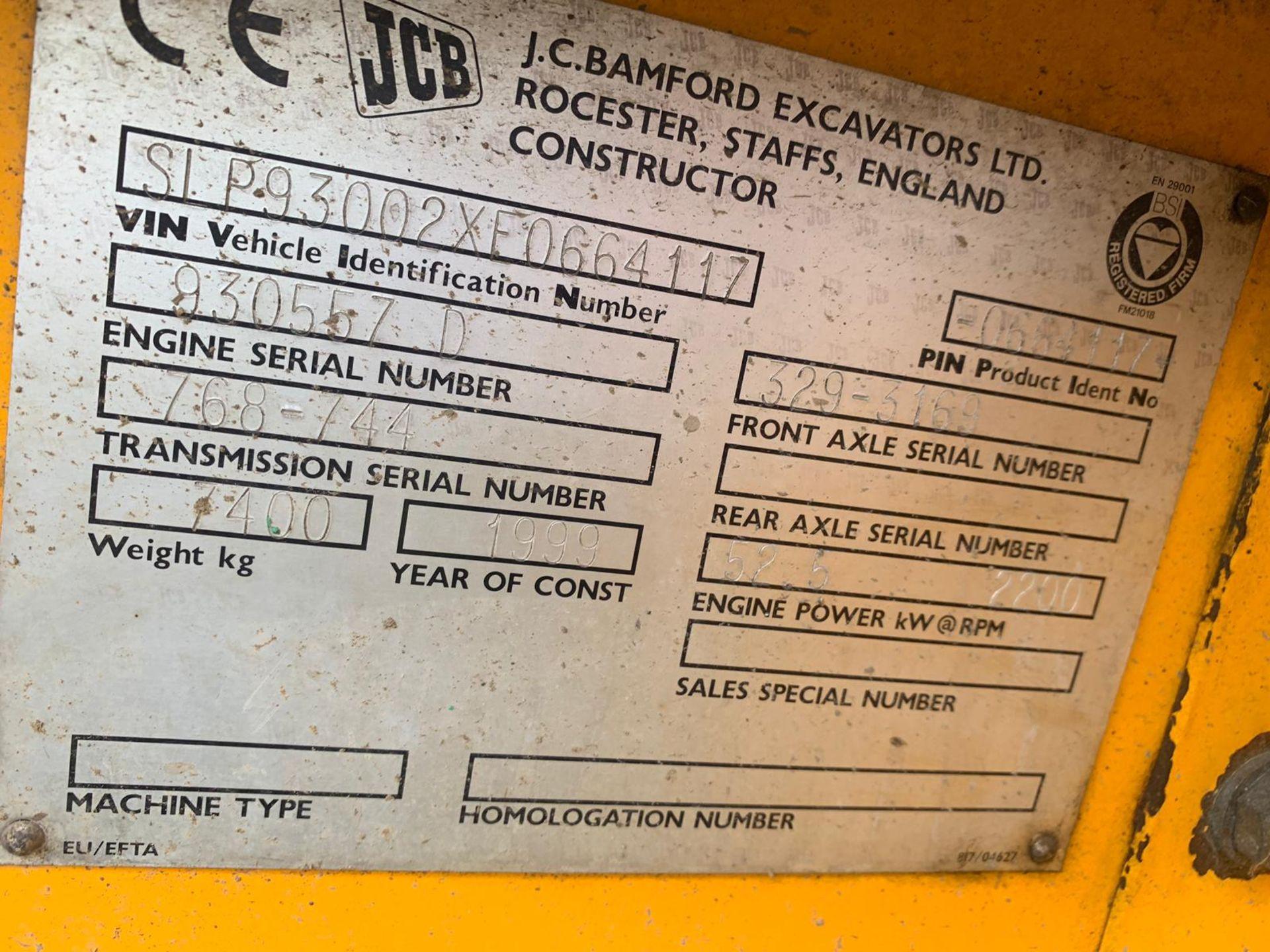 Lot 67 - 1999 JCB 930 ROUGH TERRAIN FORKLIFT *PLUS VAT*