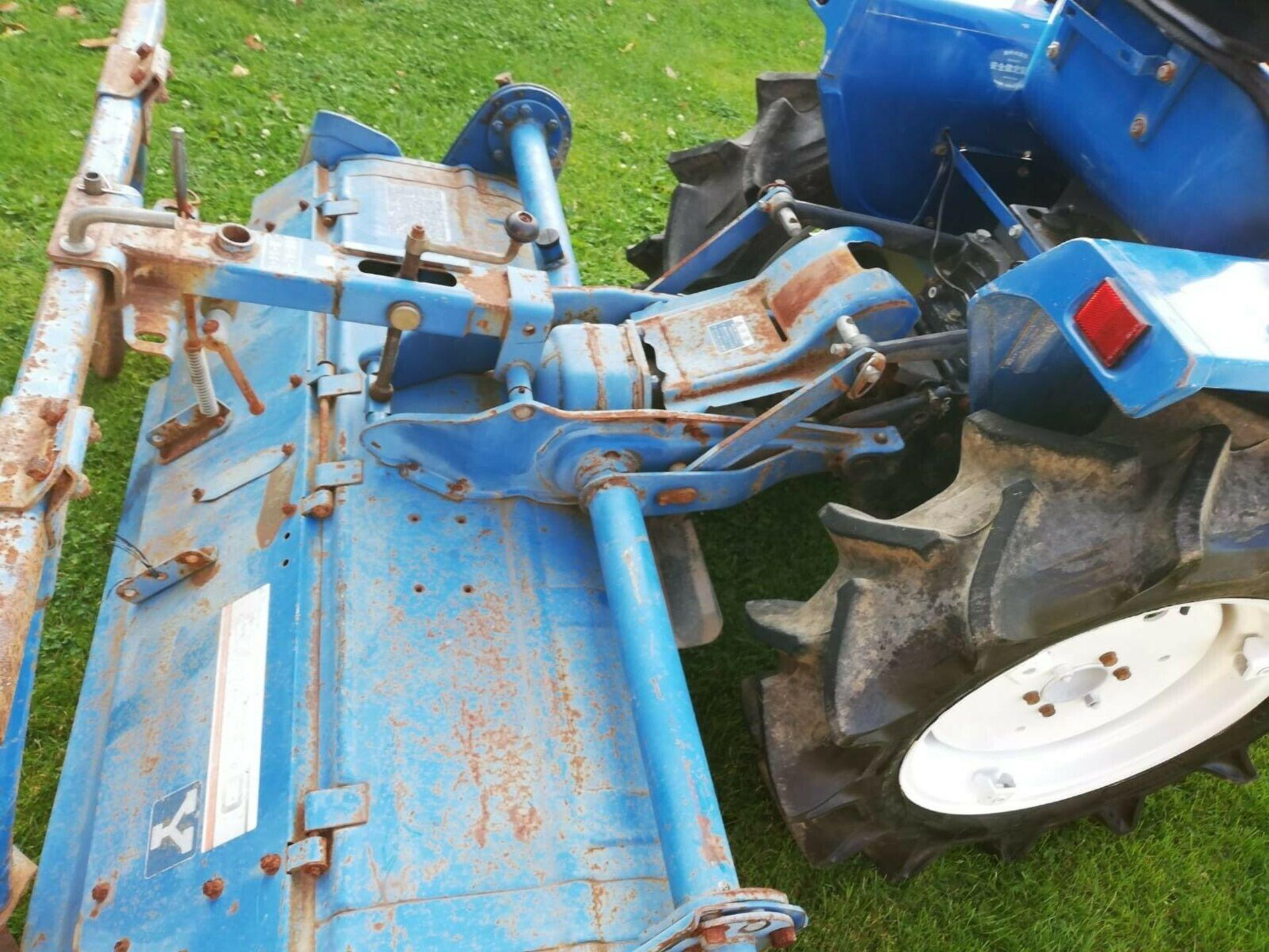 Lot 19 - ISEKI TU1600 16HP 2WD COMPACT TRACTOR & ROTAVATOR *NO VAT*