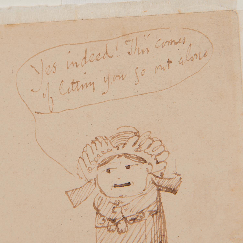 Edward Lear (attrib.), drawing, ex. Ford Found. - Image 2 of 7