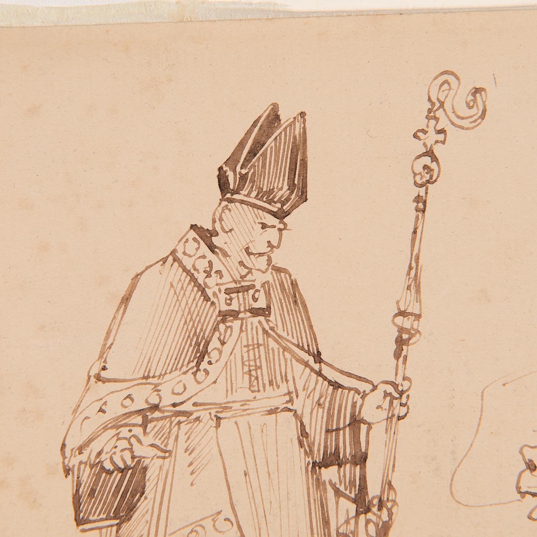 Edward Lear (attrib.), drawing, ex. Ford Found. - Image 6 of 7