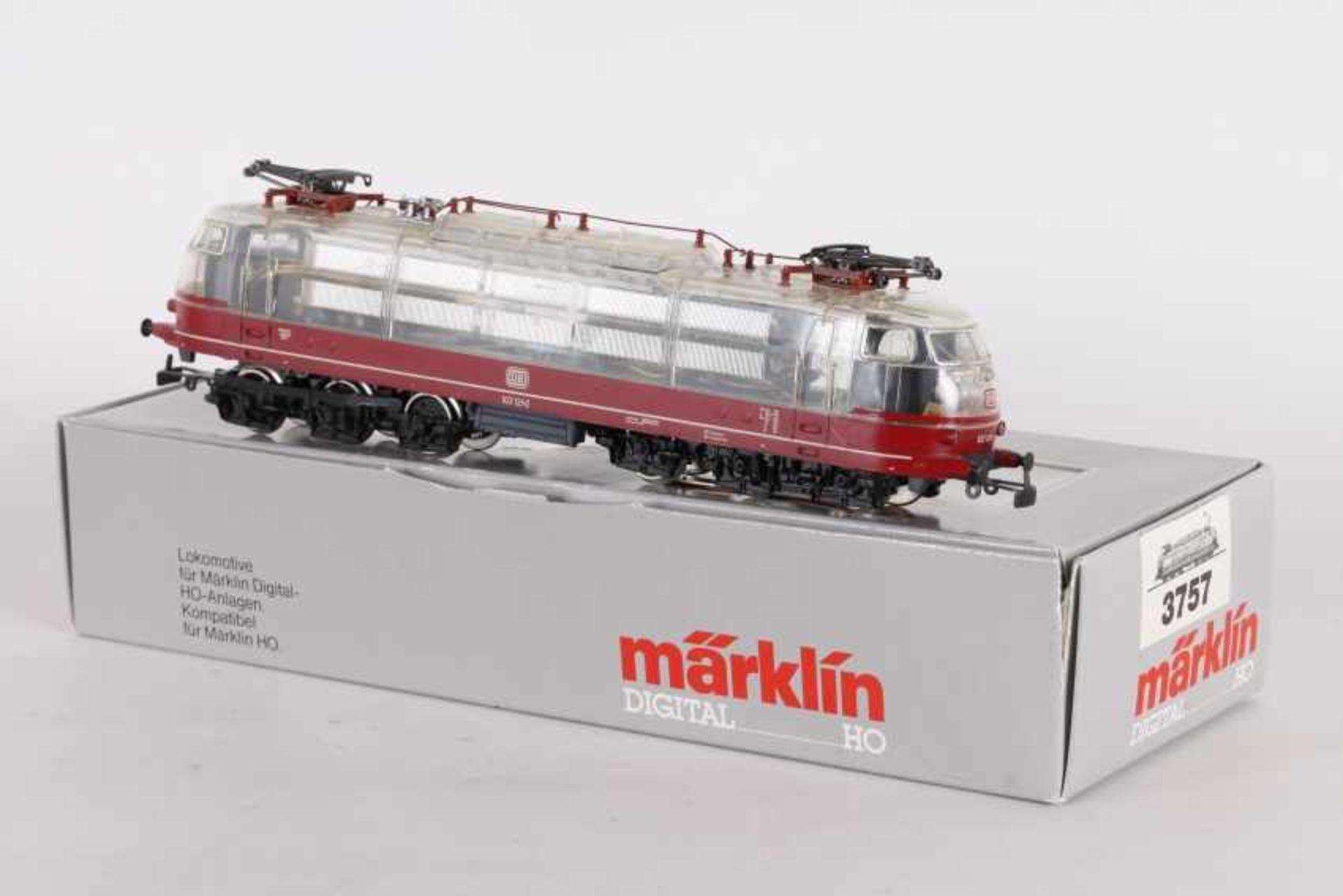 """Los 1035 - Märklin 3757, Elektrolok """"103 121-0"""" der DB, transparenter AufbauMärklin 3757, Elektrolok """"103 121-"""