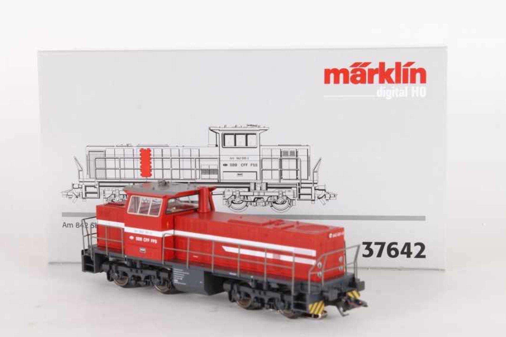 """Märklin 37642, Diesellok """"Am 842 001-0"""" der SBBMärklin 37642, Diesellok """"Am 842 001-0"""" der SBB,"""