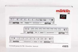 """Märklin 41875, TEE-Schnellzugwagen-Set PBA """"L' Oiseau BleuMärklin 41875, TEE-Schnellzugwagen-Set PBA"""