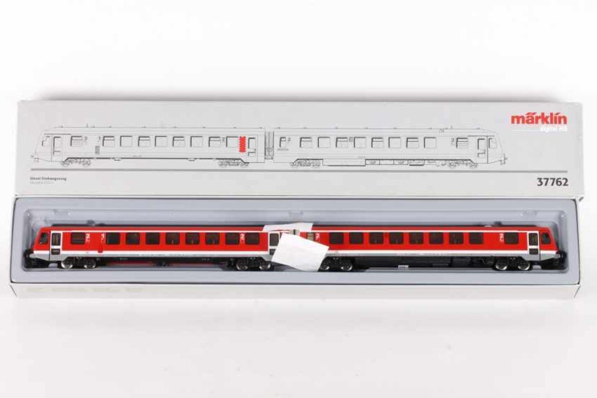 Märklin 37762, zweiteiliger Diesel-Triebwagen 628.2 der DB-AGMärklin 37762, zweiteiliger Diesel-