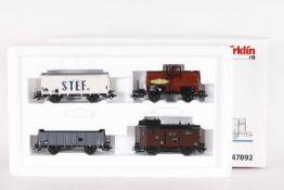 """Märklin 47892, Jeu de wagons """"SNCF vers 1955""""Märklin 47892, Jeu de wagons """"SNCF vers 1955"""", vier"""