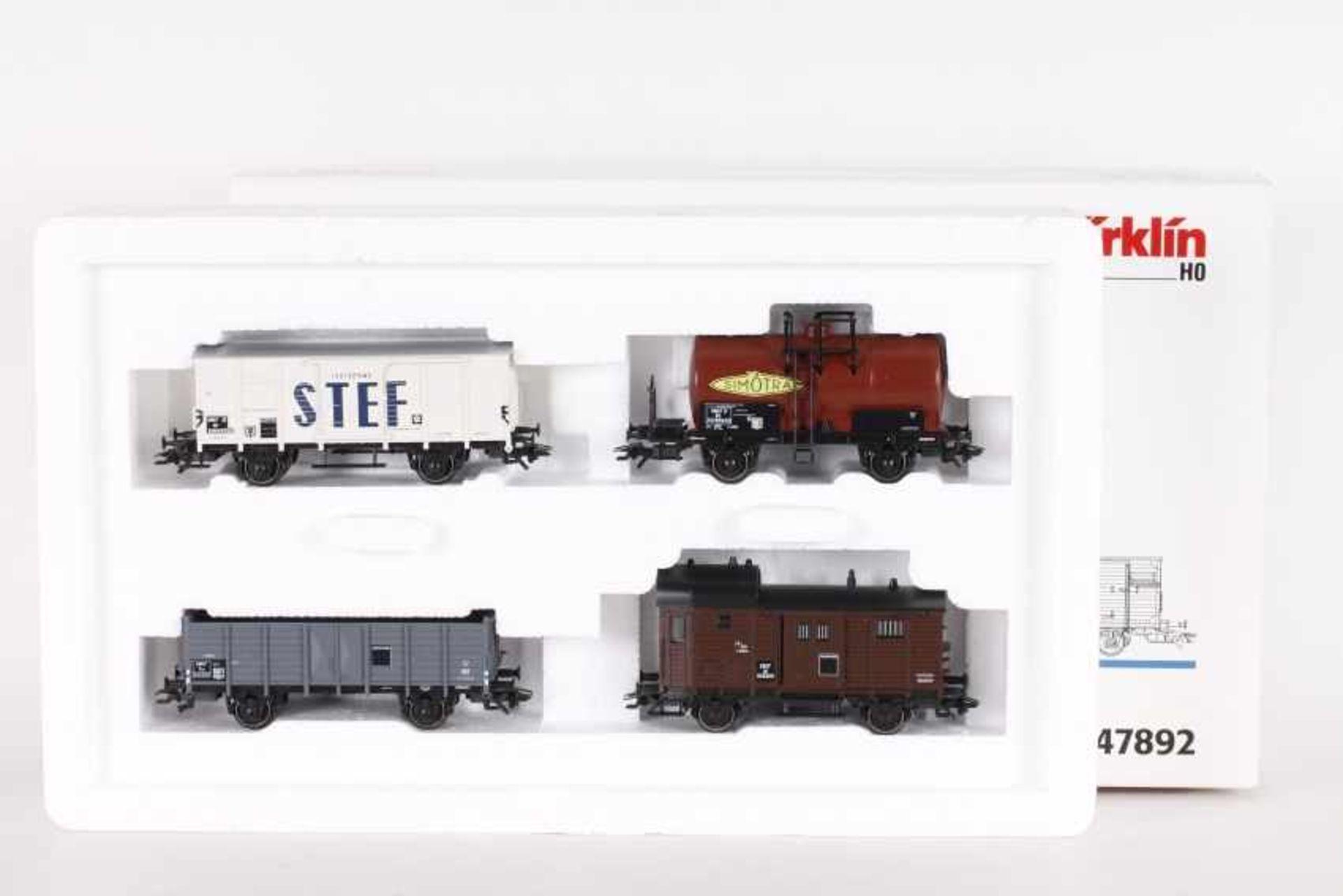 """Los 1007 - Märklin 47892, Jeu de wagons """"SNCF vers 1955""""Märklin 47892, Jeu de wagons """"SNCF vers 1955"""", vier"""