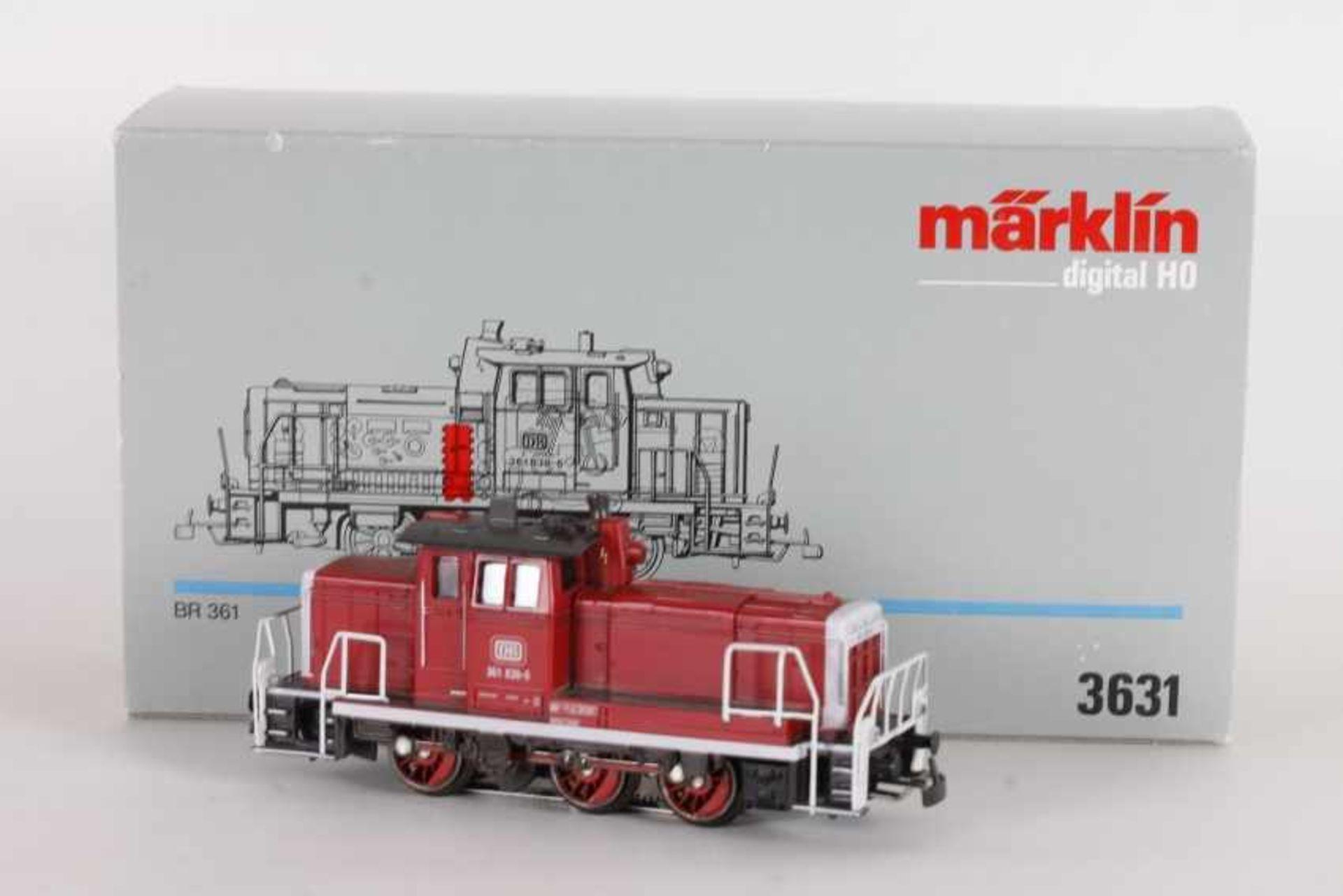 """Los 1022 - Märklin 3631, Diesellok """"361 838-6"""" der DBMärklin 3631, Diesellok """"361 838-6"""" der DB, neu-rot,"""