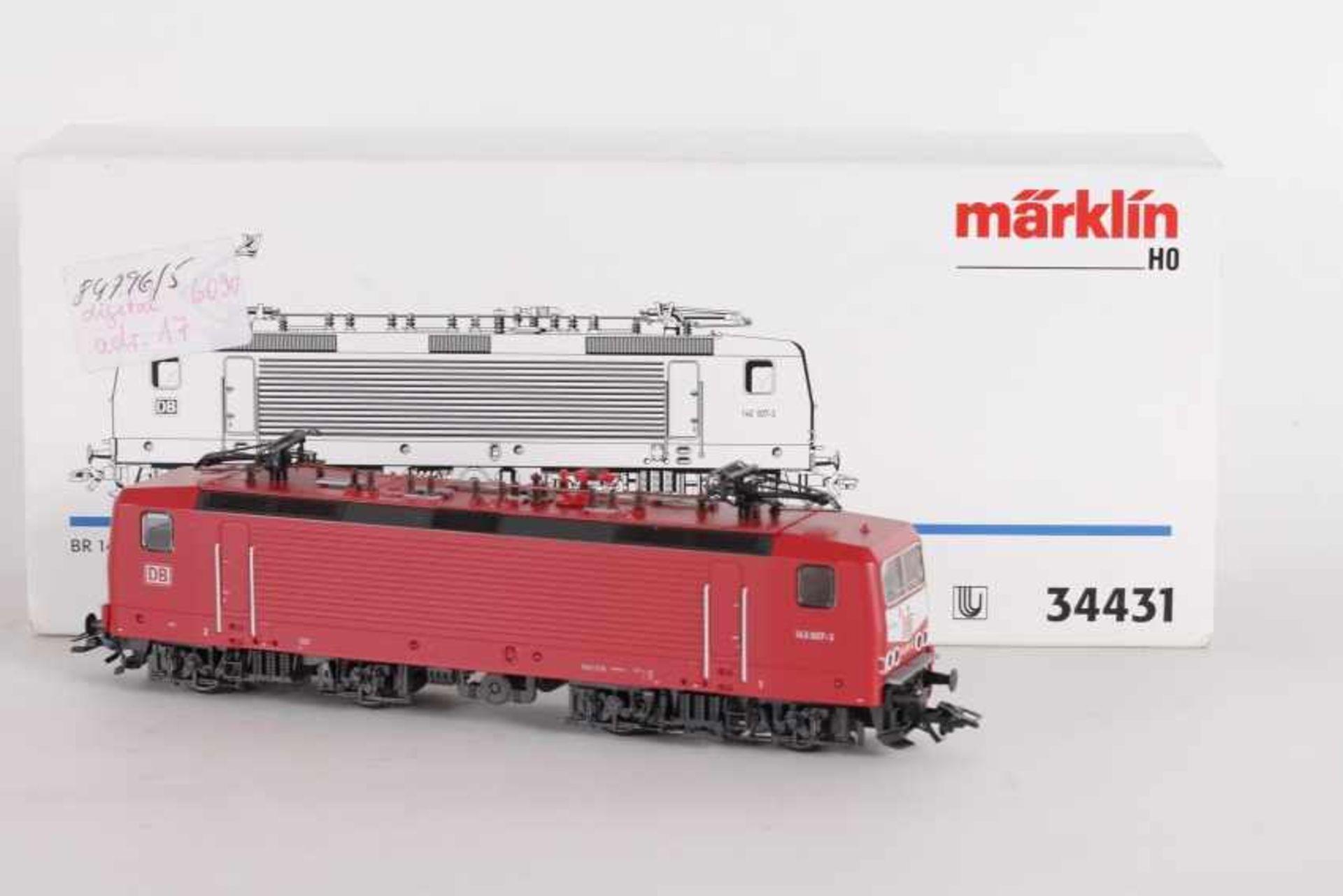 """Los 1038 - Märklin 34431, Elektrolok """"143 007-3"""" der DB-AGMärklin 34431, Elektrolok """"143 007-3"""" der DB-AG,"""
