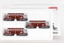 Märklin 46331, Selbstentladewagen-SetMärklin 46331, Selbstentladewagen-Set, drei Wagen der SBB, sehr