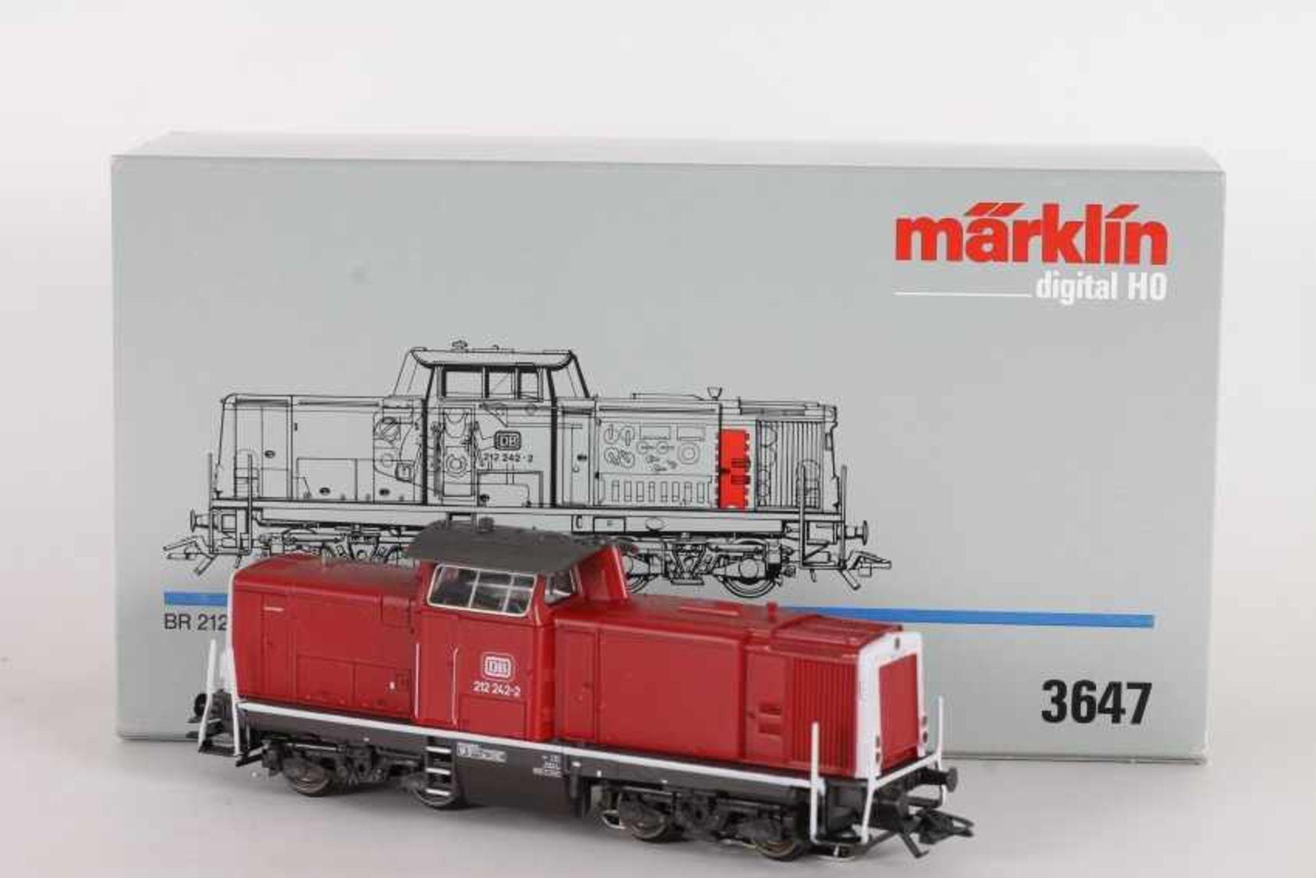"""Los 1024 - Märklin 3647, Diesellok """"212 242-2"""" der DBMärklin 3647, Diesellok """"212 242-2"""" der DB, Digital-"""