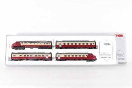 Märklin 39700, vierteiliger TEE Triebwagenzug RAm 401 der SBBMärklin 39700, vierteiliger TEE