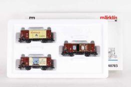 """Märklin 48783, Wagen-Set """"Wirtschaftswunder""""Märklin 48783, Wagen-Set """"Wirtschaftswunder"""", drei"""