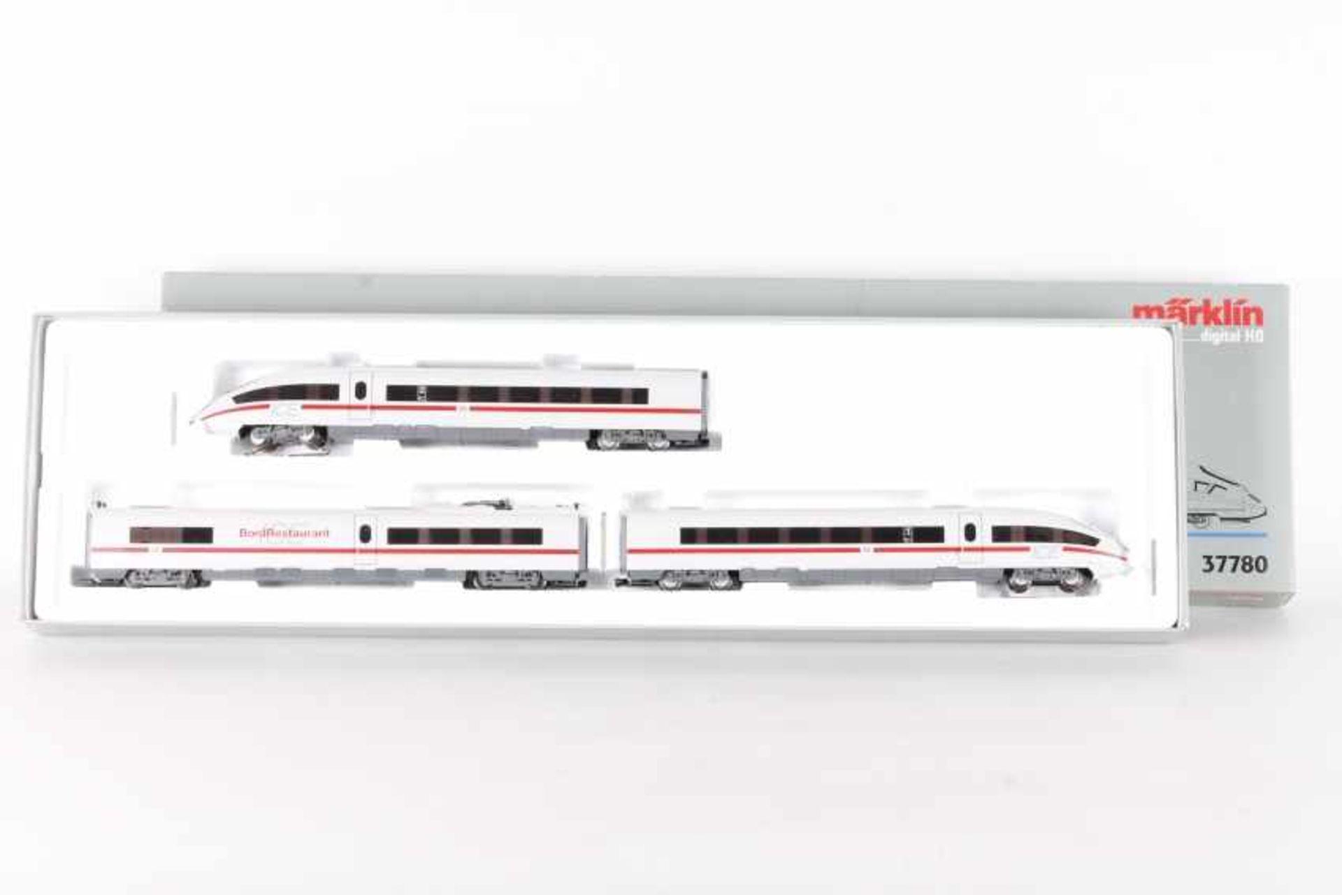Märklin 37780, dreiteiliger Triebwagen-Zug ICE 3Märklin 37780, dreiteiliger Triebwagen-Zug ICE 3,
