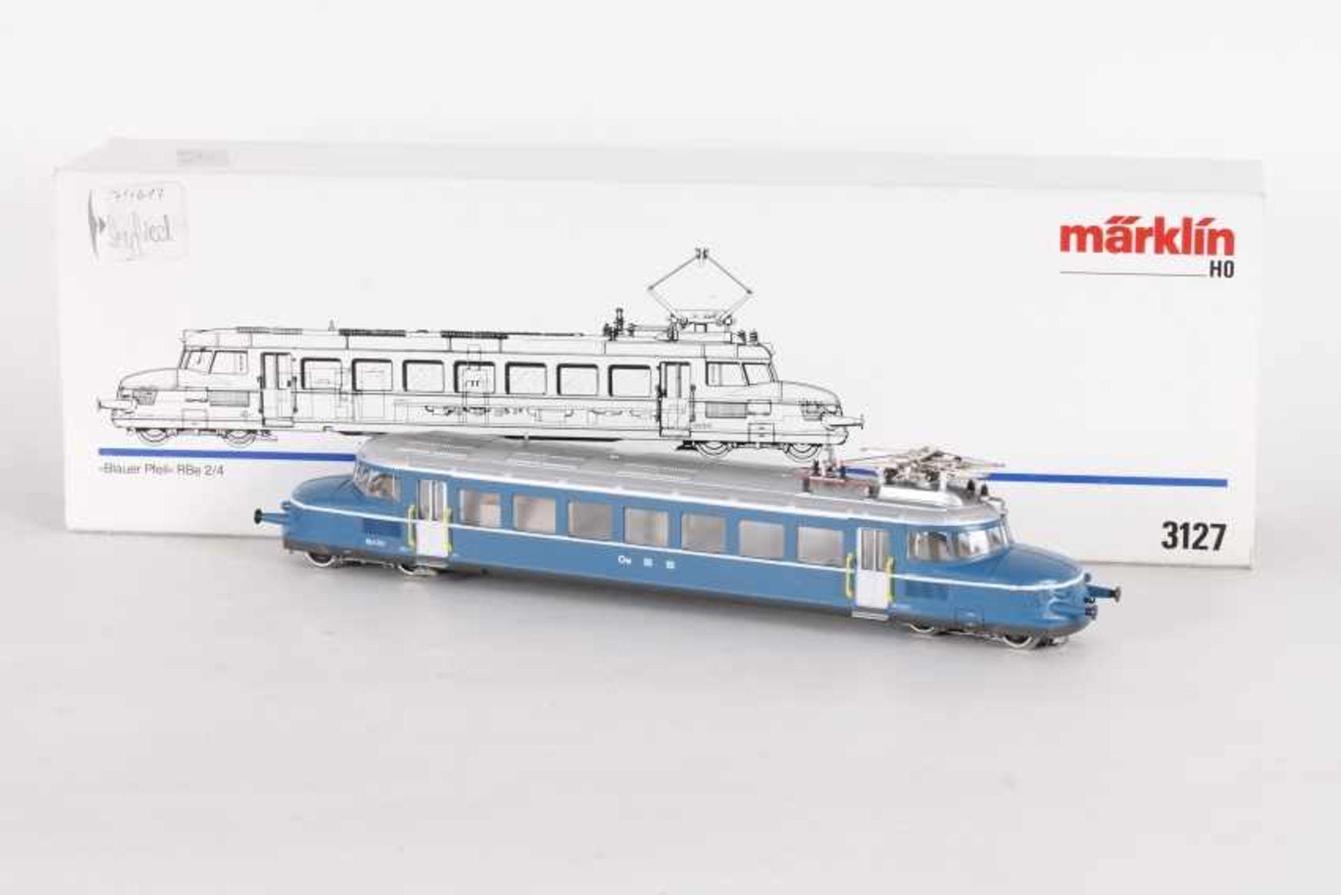 """Los 1011 - Märklin 3127, 'Blauer Pfeil', Schnelltriebwagen """"RBe 2/4"""" der OeBBMärklin 3127, 'Blauer Pfeil',"""