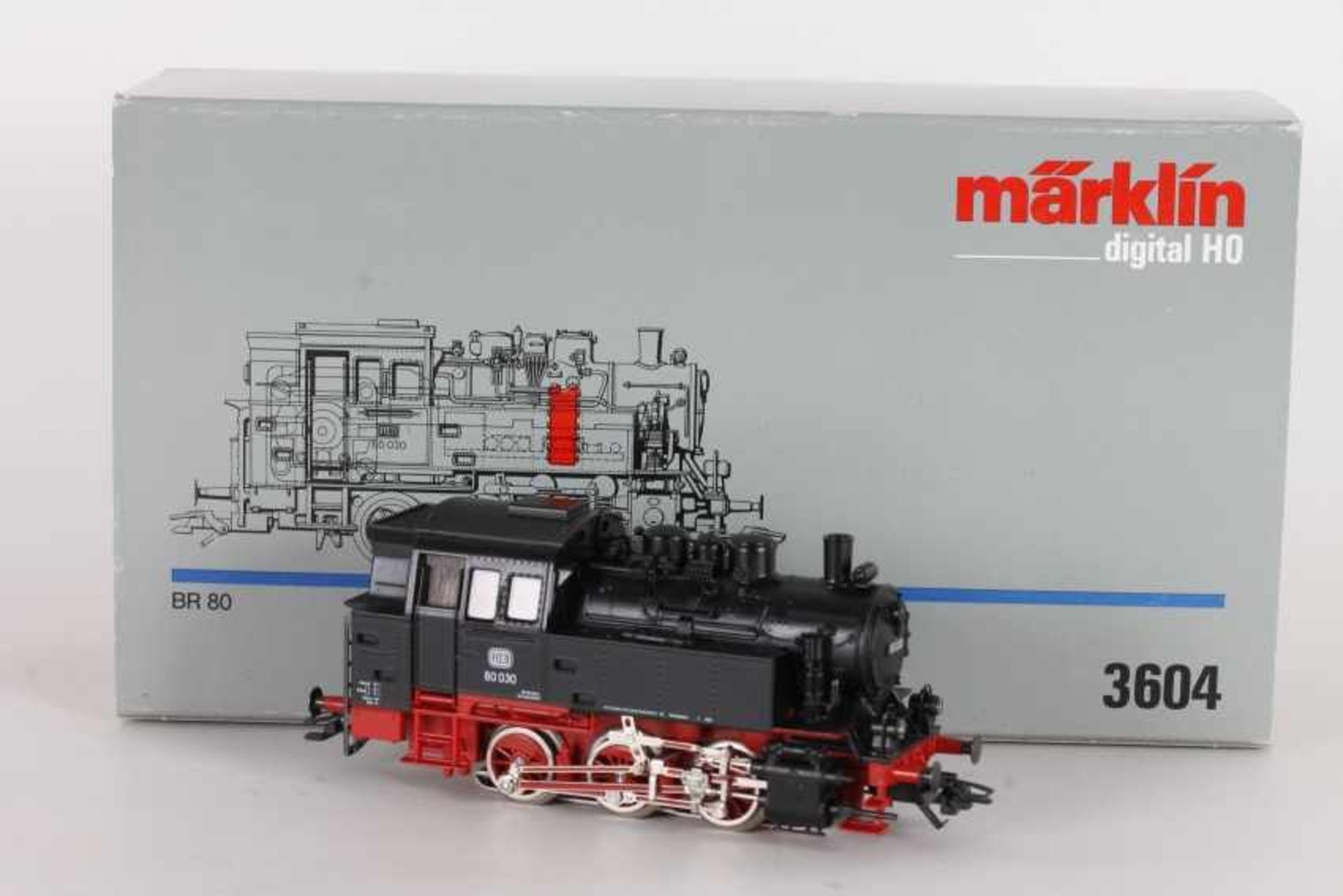 "Los 1021 - Märklin 3604, Tenderlok ""80 030"" der DBMärklin 3604, Tenderlok ""80 030"" der DB, Digital-Technik,"