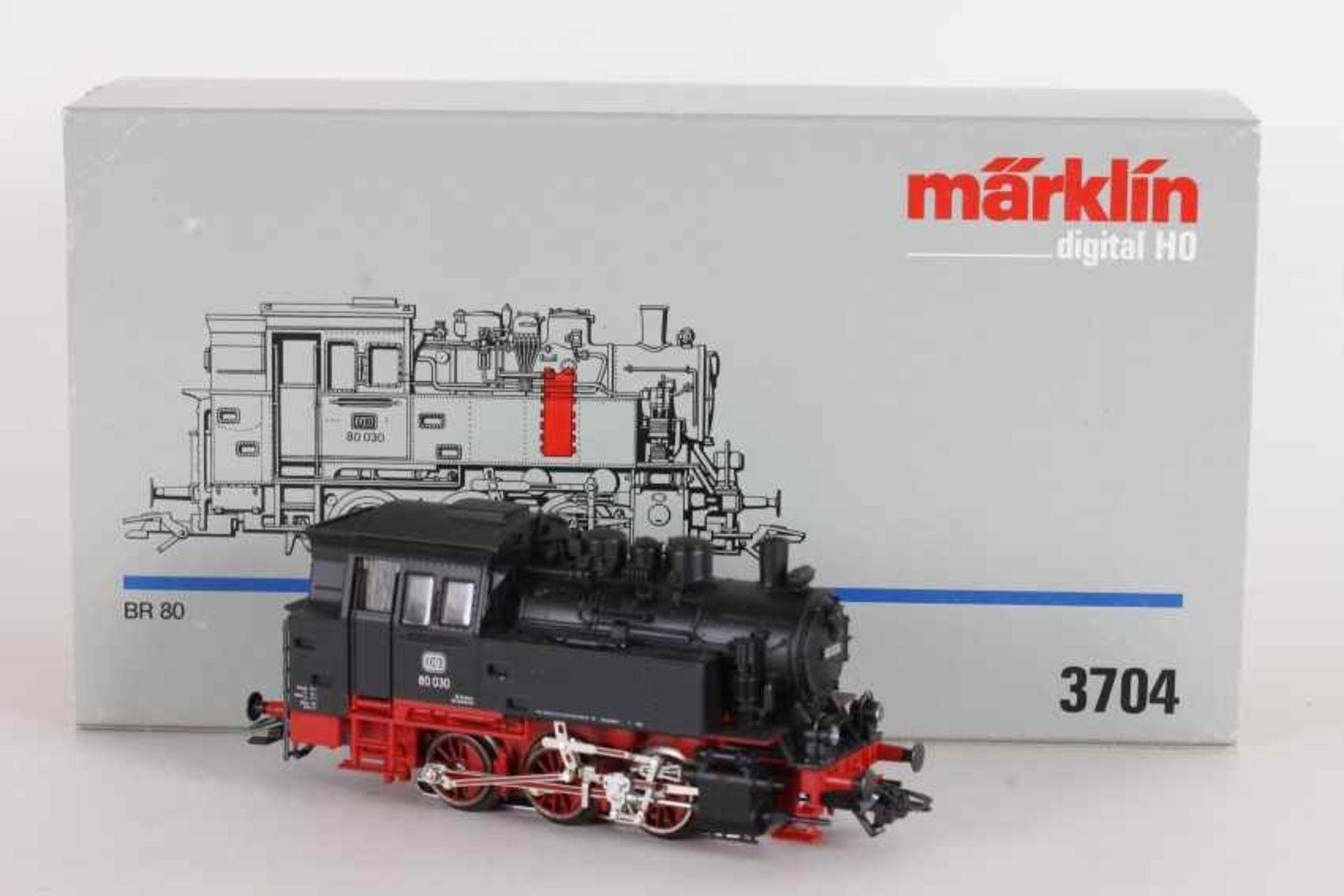 """Los 1030 - Märklin 3704, Tenderlok """"80 030"""" der DBMärklin 3704, Tenderlok """"80 030"""" der DB, Digital-*-Technik,"""
