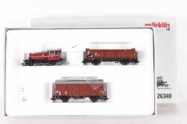 Märklin 26340, Rangier-Güterzug der DBMärklin 26340, Rangier-Güterzug der DB, Diesellok mfx-