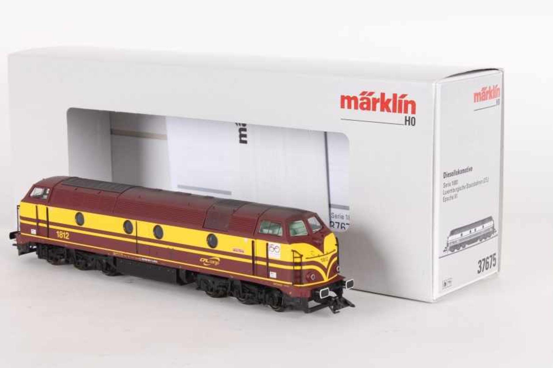 """Märklin 37675, Diesellok """"1812"""" der CFLMärklin 37675, Diesellok """"1812"""" der CFL, mfx-Digital-*-"""