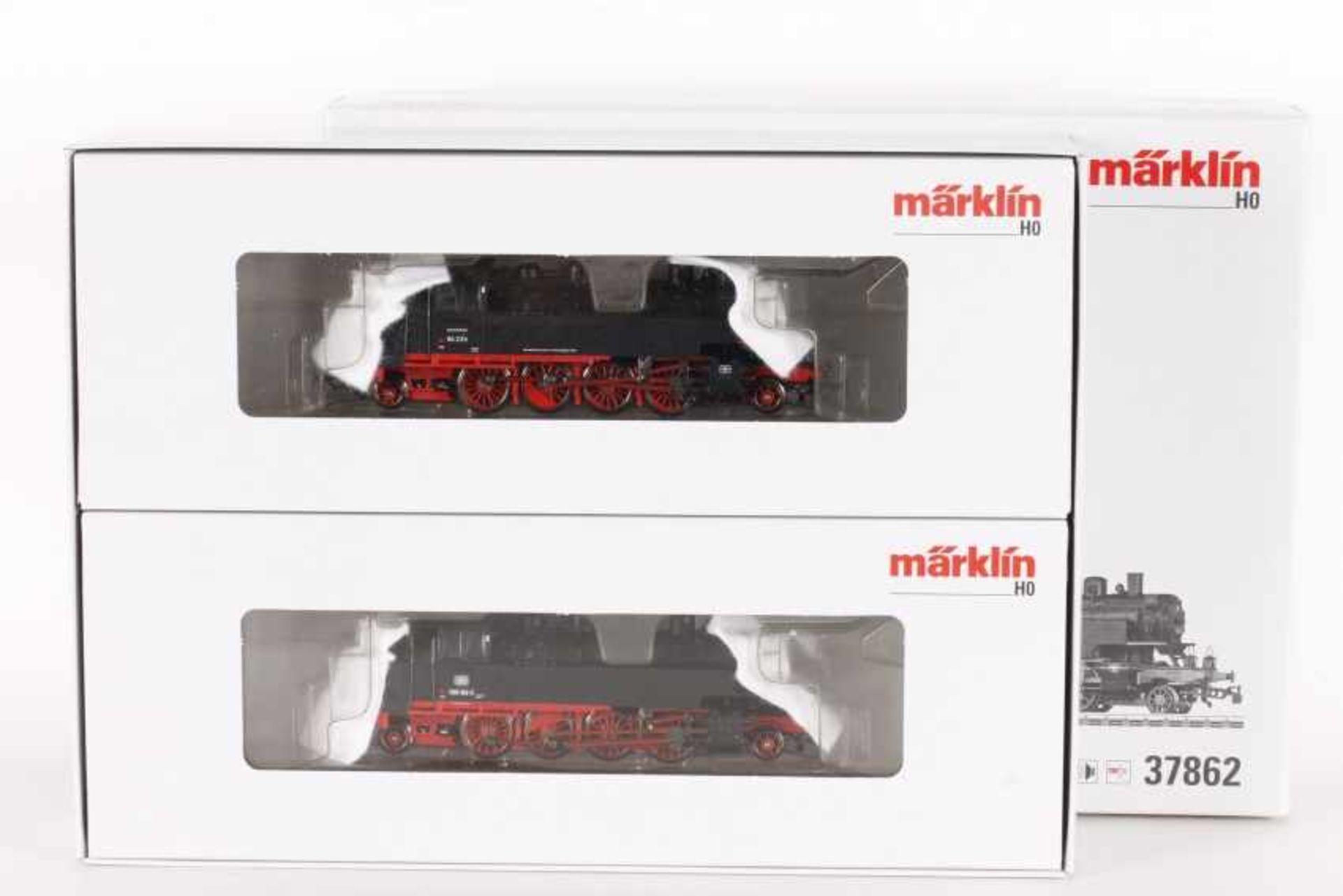Märklin 37862, Doppelpackung mit zwei Tenderloks BR 86 der DBMärklin 37862, Doppelpackung mit zwei