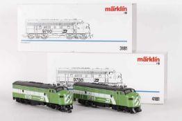 """Märklin 3181 und 4181, """"BURLINGTON NORTHERN"""", zweiteilige US-DiesellokMärklin 3181 und 4181, """""""