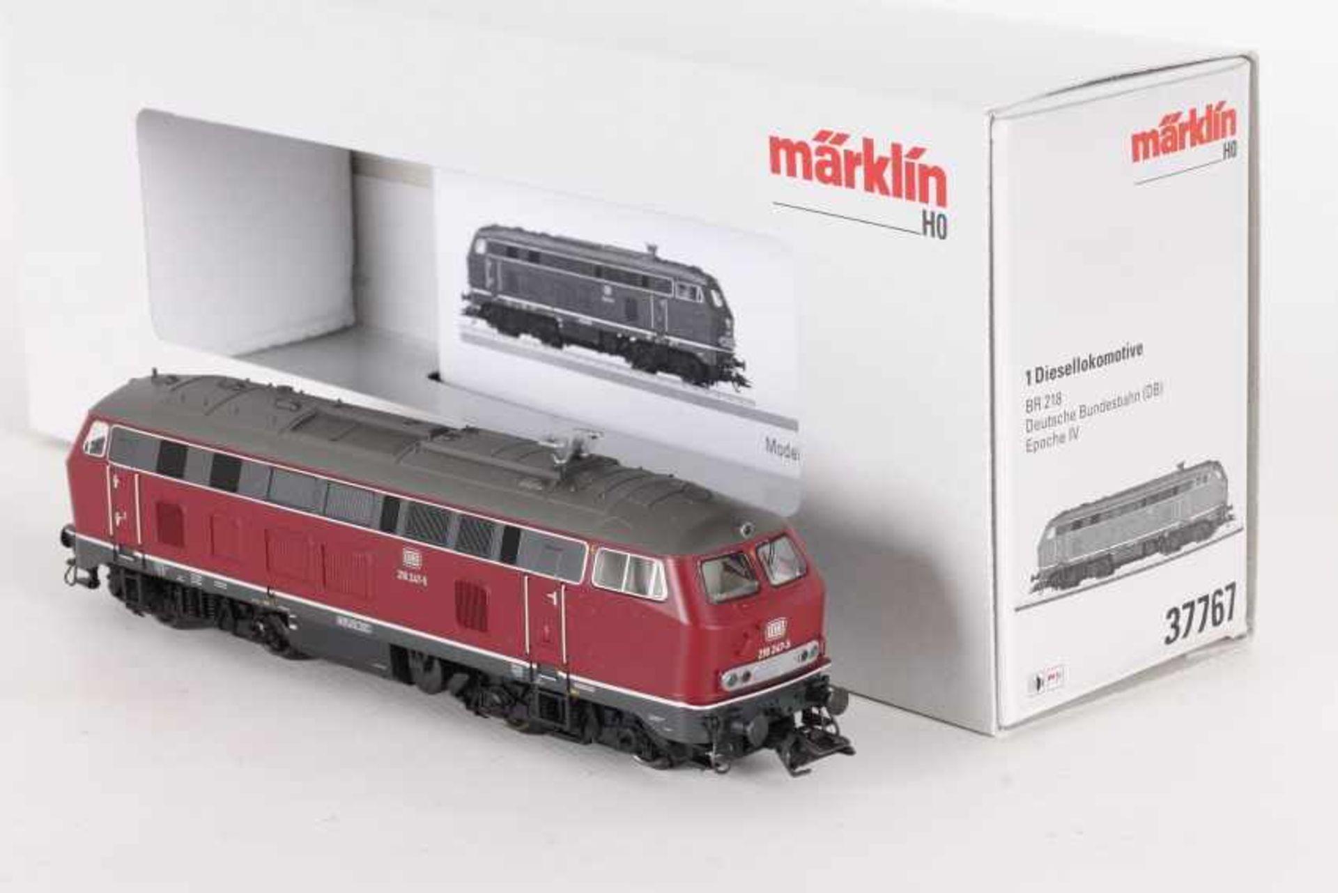"""Märklin 37767, Diesellok """"218 247-5"""" der DBMärklin 37767, Diesellok """"218 247-5"""" der DB, mfx-"""