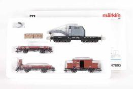 """Märklin 47893, Wagen-Set """"Gleisbauzug""""Märklin 47893, Wagen-Set """"Gleisbauzug"""", Kranwagen der DRG"""
