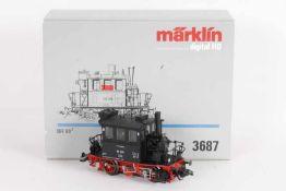 """Märklin 3687, 'Glaskasten', Lokalbahn-Tenderlok """"98 308"""" der BundesbahnMärklin 3687, 'Glaskasten',"""