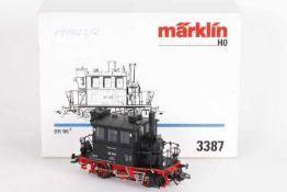 """Märklin 3387, 'Glaskasten', Lokalbahn-Tenderlok """"98 308"""" der BundesbahnMärklin 3387, 'Glaskasten',"""
