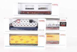 Märklin, fünf GüterwagenMärklin, fünf Güterwagen, 46949, 47705, 4835, 48506, 94339, sehr gut