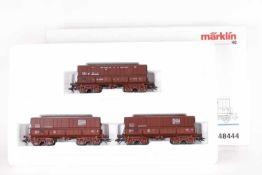 """Märklin 48444, Wagen-Set """"Gustave Boel""""Märklin 48444, Wagen-Set """"Gustave Boel"""", drei Erzwagen der"""