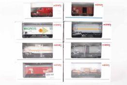 Märklin, acht GüterwagenMärklin, acht Güterwagen, 00752-07, 00798-14, 45023, 46364, 46460-02, 48150,