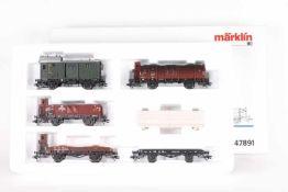 """Märklin 47891, Wagen-Set """"Güterwagen um 1950""""Märklin 47891, Wagen-Set """"Güterwagen um 1950"""", fünf"""