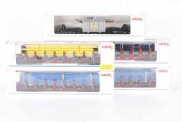 Märklin, fünf GüterwagenMärklin, fünf Güterwagen, 4617 (EVS), 47713, 47717, 2 x 47718, sehr gut