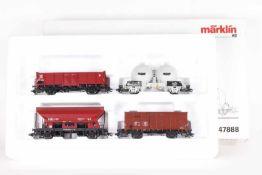 Märklin 47888, Set belgische GüterwagenMärklin 47888, Set belgische Güterwagen, vier Wagen der SNCB,