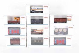 Märklin, zehn GüterwagenMärklin, zehn Güterwagen, 00752-18, 2 x 4403, 4424, 44510, 4507, 4582,
