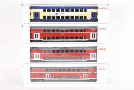 Märklin, vier DoppelstockwagenMärklin, vier Doppelstockwagen, 43472, 43584, 43585, 43586, sehr gut