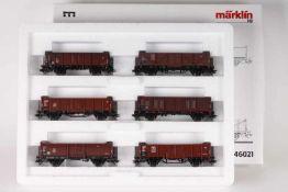 """Märklin 46021, Wagenset """"Die junge DB""""Märklin 46021, Wagenset """"Die junge DB"""", sechs offene"""