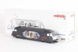 "Märklin 3451, 'Heizerlok', Elektrolok ""Re 460 017-7"" der SBBMärklin 3451, 'Heizerlok', Elektrolok """