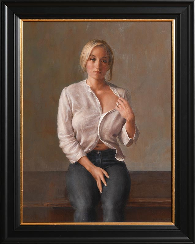 Lot 2 - Harry Holland (b.1941) Portrait of a Young Lady