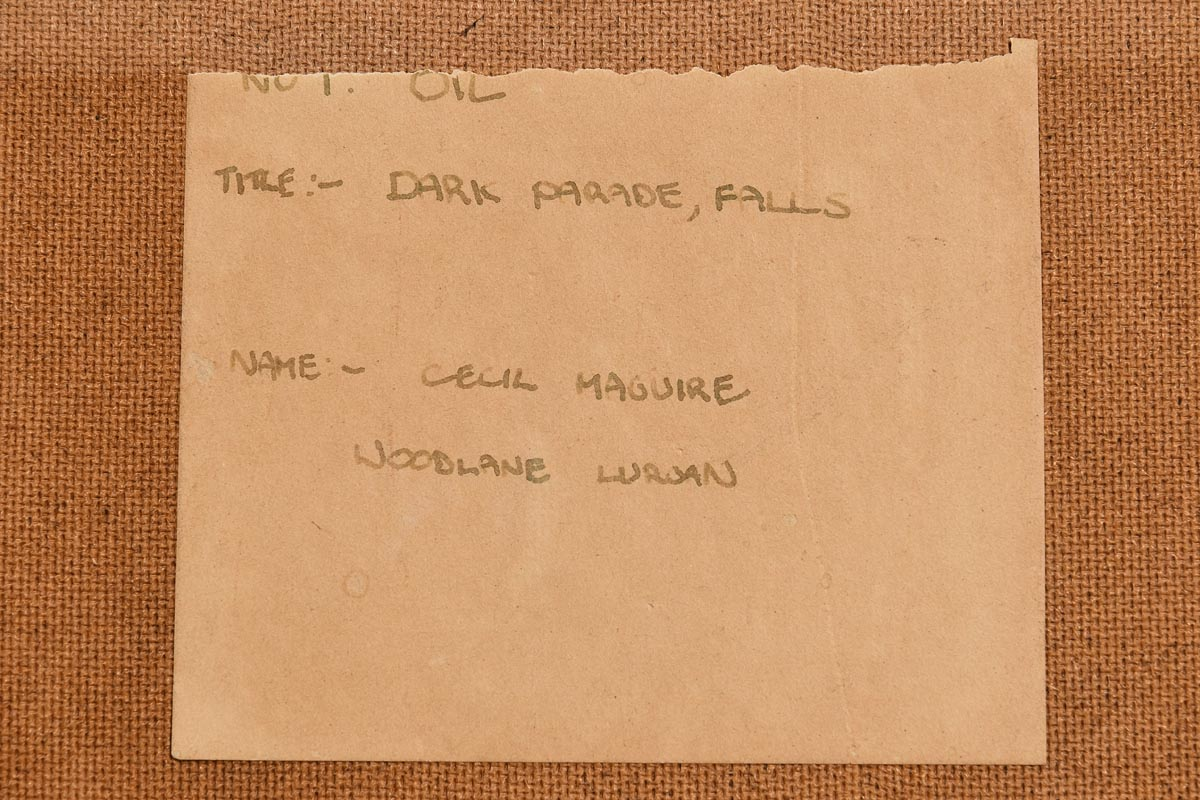 Lot 17 - Cecil Maguire RHA RUA (b.1930) The Dark Parade, Falls Road, Belfast (1973)