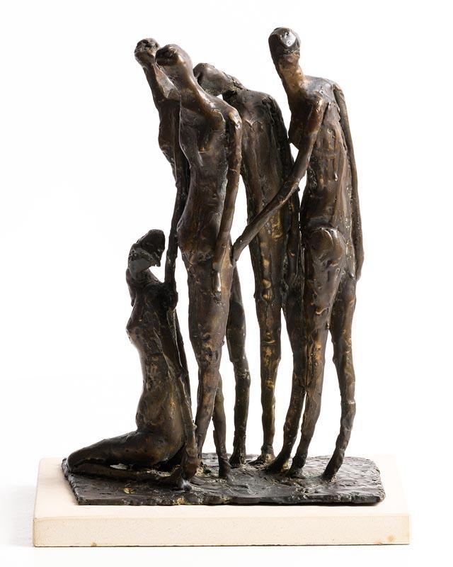 Lot 60 - Edward Delaney RHA (1930-2009) Famine Group (1972)