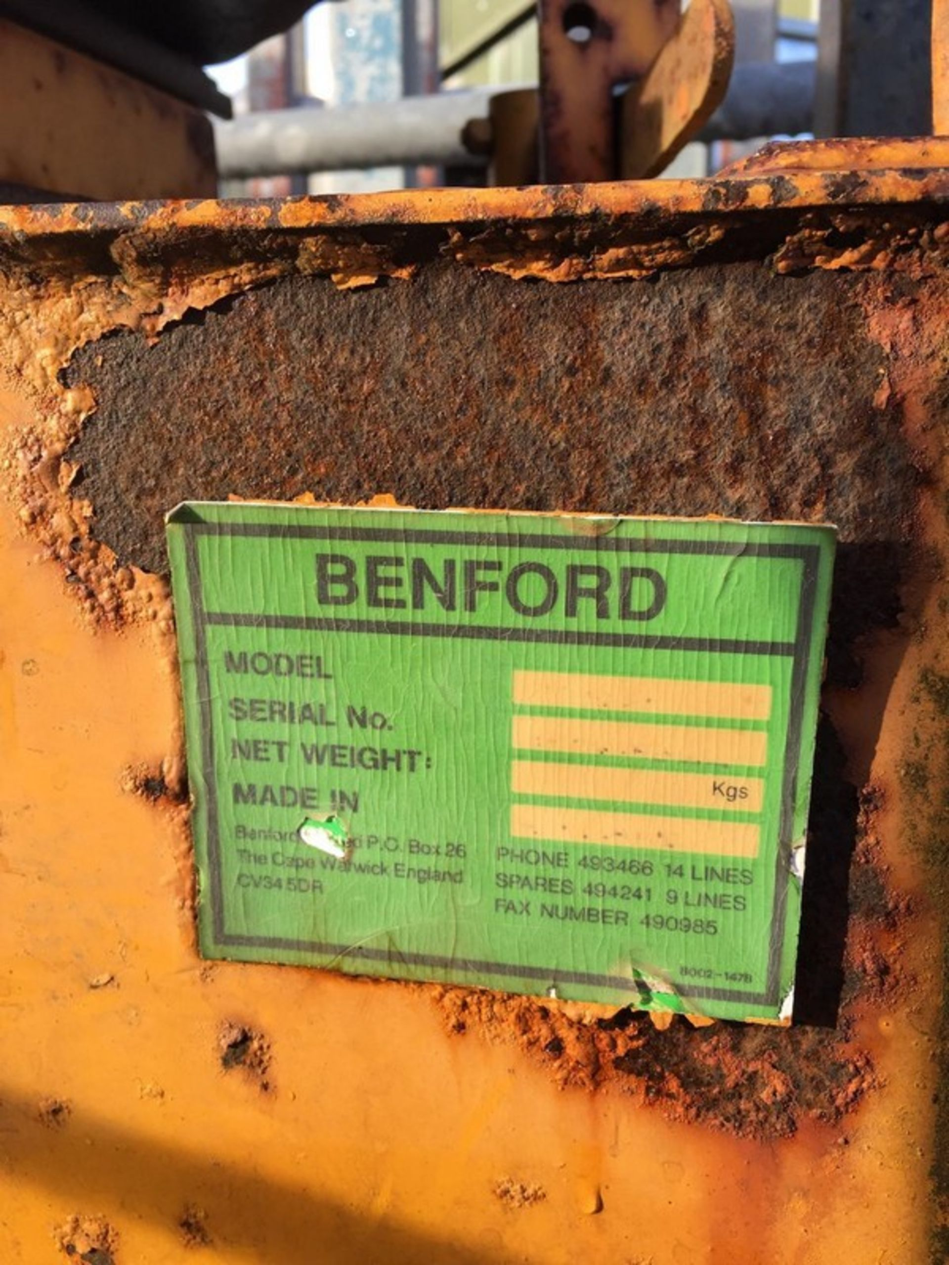 Auktionslos 845 - BENFORD 800 double drum roller, key start. . **To be sold from Errol auction site. Viewing