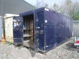 Auktionslos 495 - 20' X 8' galvanised steel store fitted out with storage bins